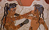 Boxers Akrotiri Santorini Greece National Archaeological Museum ancient Greece stock photos