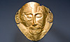 Not Mask of Agamemnon National Archaeological Museum of Athens ancient Greece stock photos