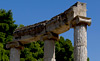 Ancient Olympia Philippeion circular memorial ancient Greece stock photos