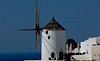 Island of Santorini Oia Windmill Greece stock photos